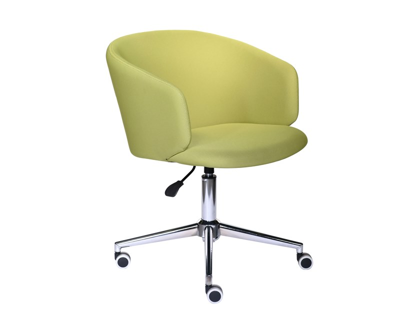 Chair with 4-spoke base with casters MEGAN | Chair with casters by Tuna Ofis