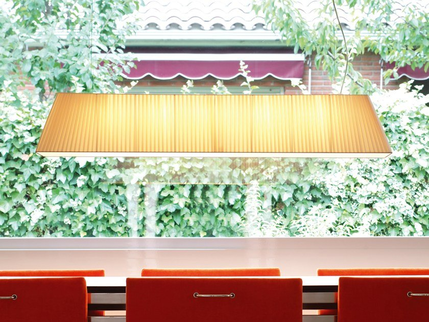 Fabric pendant lamp MEI 120 by BOVER
