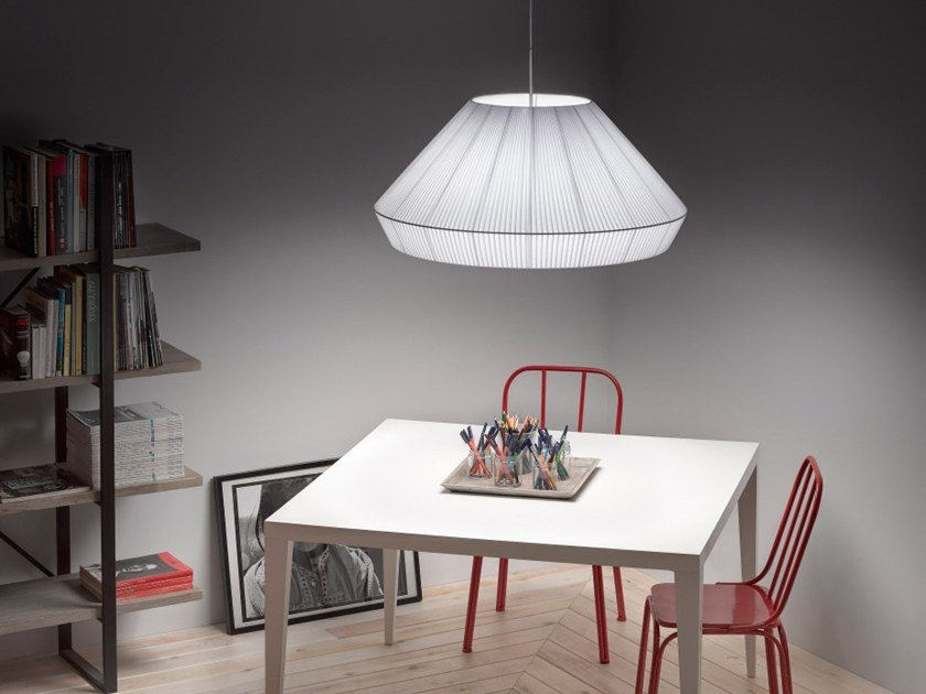 Fabric pendant lamp MEI 125 by BOVER