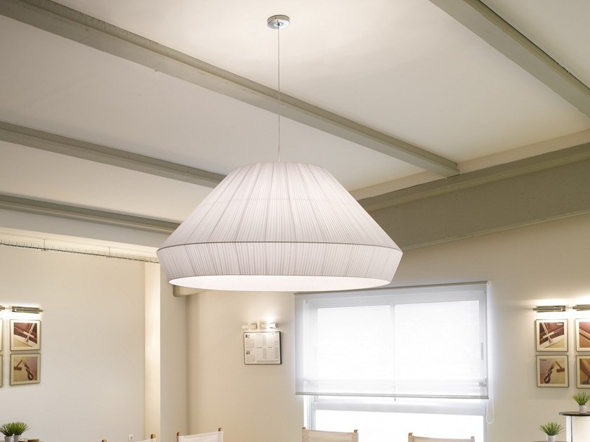 Fabric pendant lamp MEI 150 by BOVER