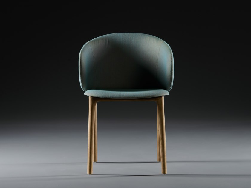 Upholstered fabric chair MELA | Chair by Artisan