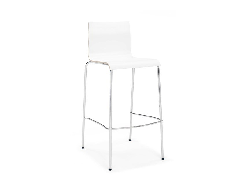 Melamine barstool with footrest NOA BARSTOOL | Melamine stool by Casala