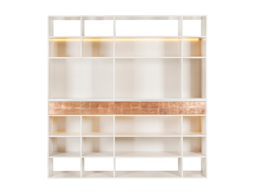 Open bookcase with drawers MELBOURNE by Green Apple