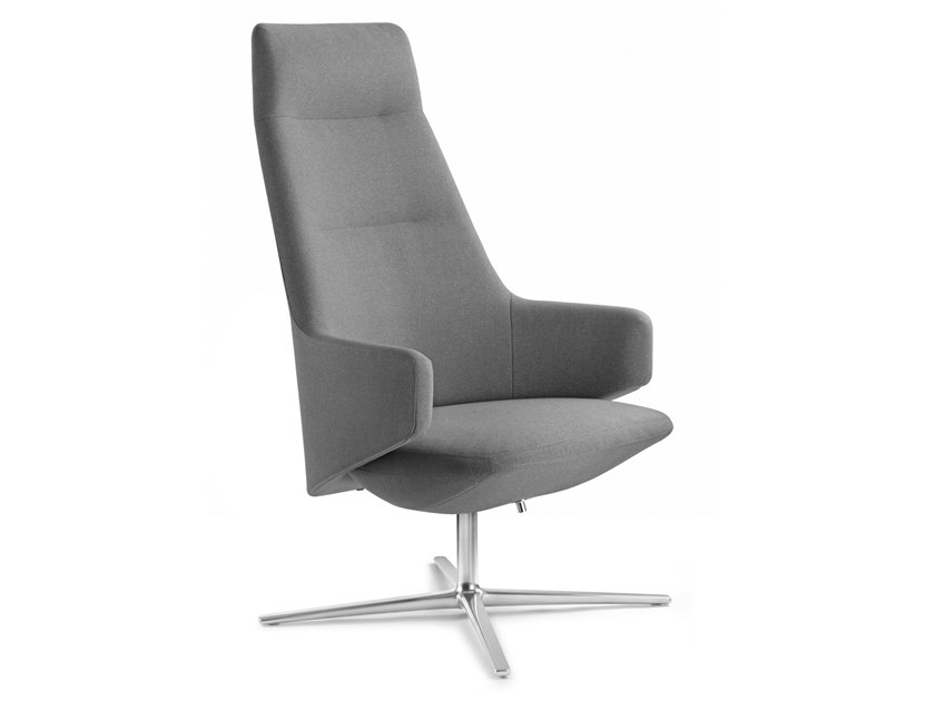 Fabric executive chair with armrests MELODY LOUNGE | Executive chair with headrest by LD Seating