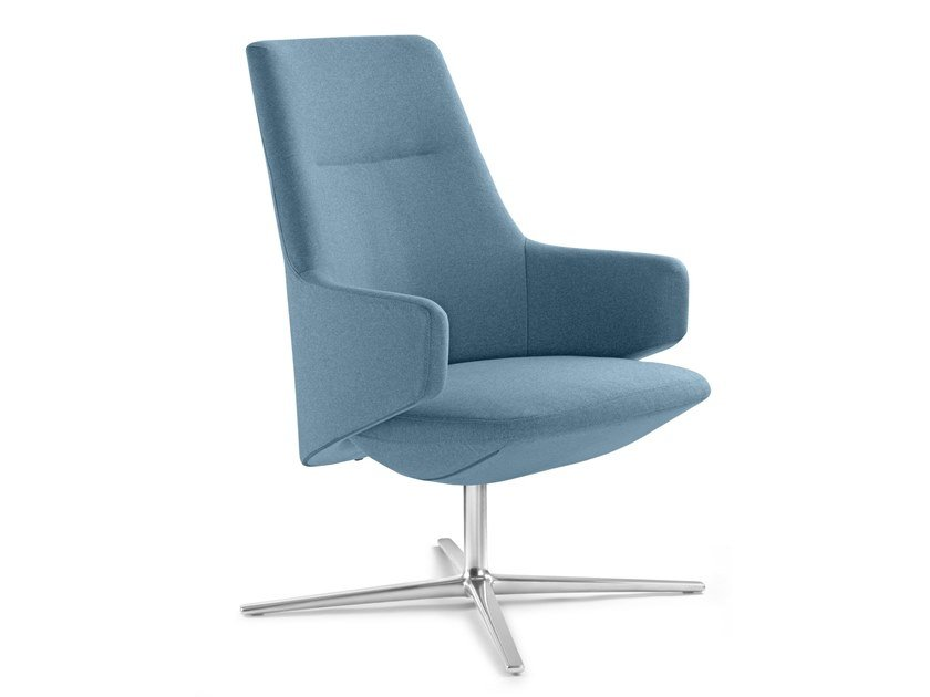 Fabric executive chair with 4-spoke base with armrests MELODY LOUNGE | Fabric executive chair by LD Seating