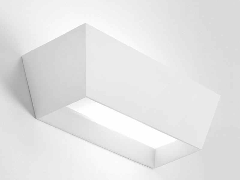 Direct-indirect light plaster wall light MELOS by Sforzin
