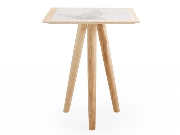 Square solid wood table MELT 60 by I.T.F. Design