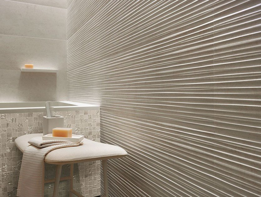 Piastrelle con superficie tridimensionale in ceramica a pasta