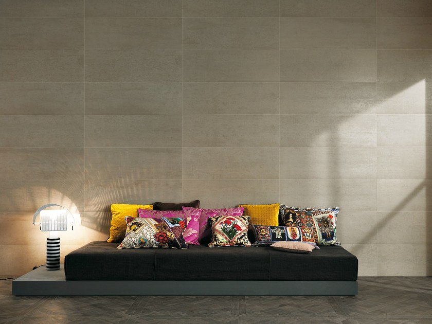 Indoor white-paste wall tiles with concrete effect MELTIN | Wall tiles by FAP ceramiche
