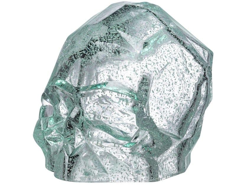 Crystal decorative object MEMENTO MORI L - LUMINOUS by NUDE