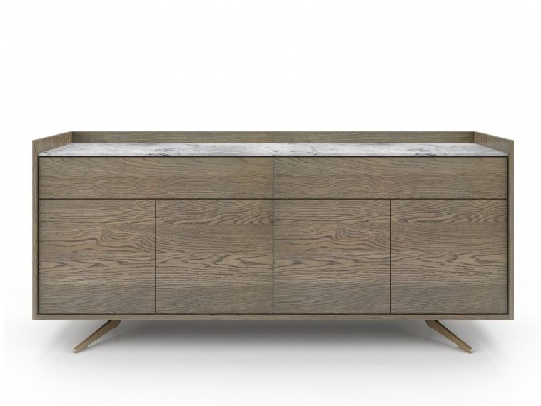 Oak sideboard with doors MEMENTO | Sideboard by Huppé