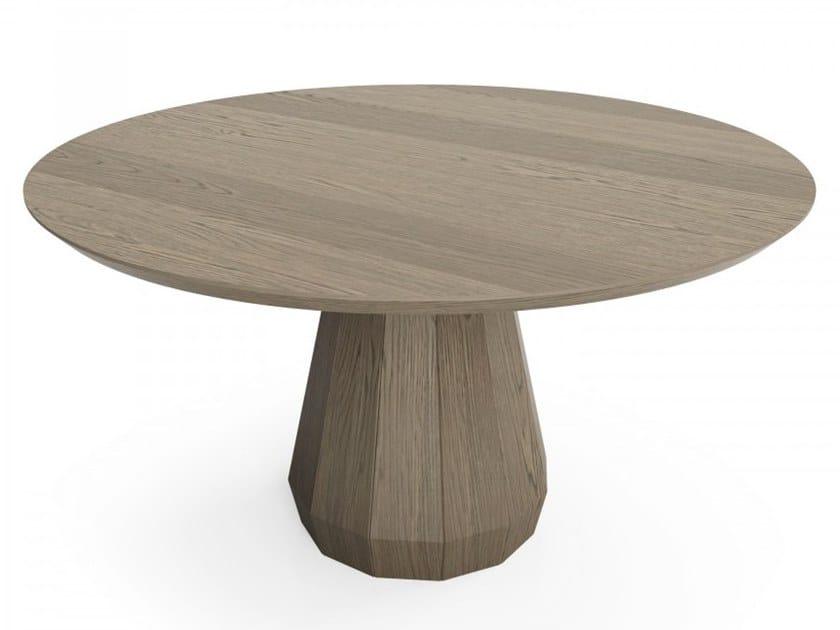 Round oak table MEMENTO   Table by Huppé