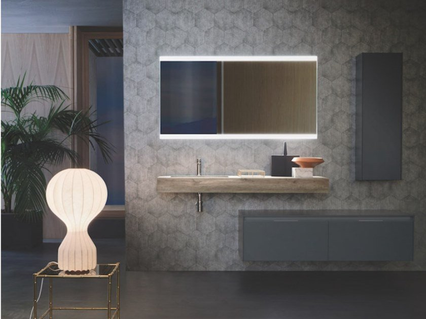 Wall-mounted vanity unit with drawers MEMO 03 by Arbi Arredobagno