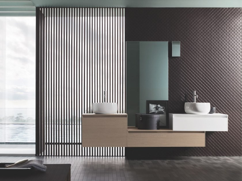 Wall-mounted vanity unit with drawers MEMO 06 by Arbi Arredobagno