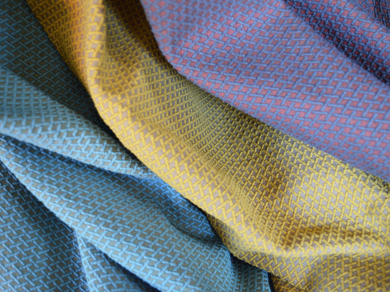 Jacquard fabric with graphic pattern MEMO by l'Opificio