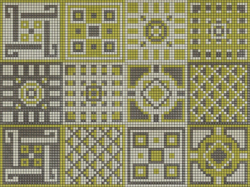 Ceramic mosaic MEMORIA 01 by Appiani