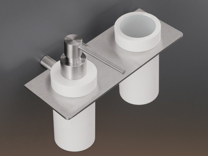 Shelf with toothbrush holder and dispenser MEN07 by Ceadesign