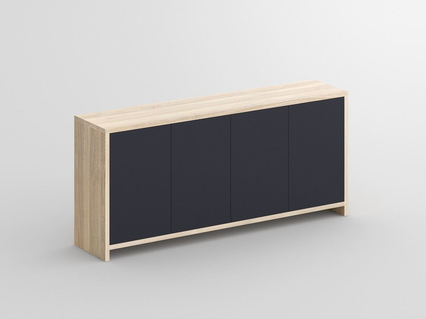 Solid wood sideboard with colored Bio MDF MENA | MDF sideboard by Vitamin Design