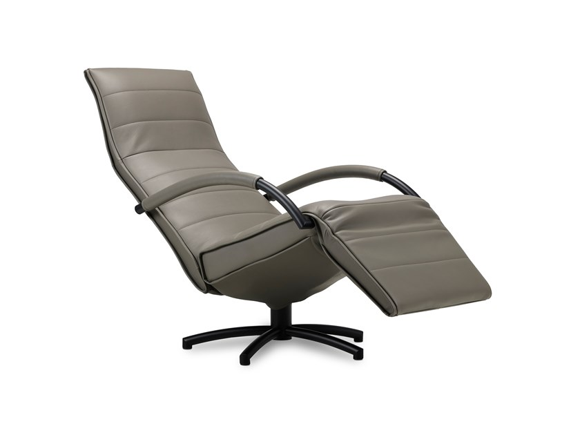 Upholstered recliner leather armchair MENSANA | Leather armchair by JORI