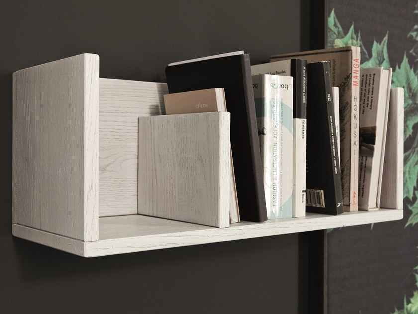 Wooden wall shelf MENSOLA CONTENITORE by AltaCorte