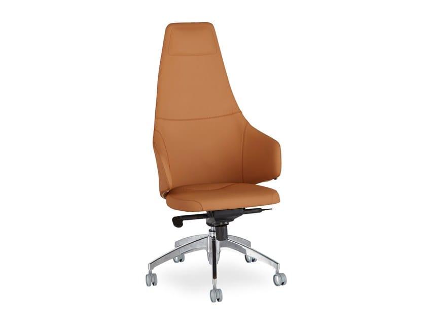 Mentor poltrona ufficio direzionale con schienale alto by b t design