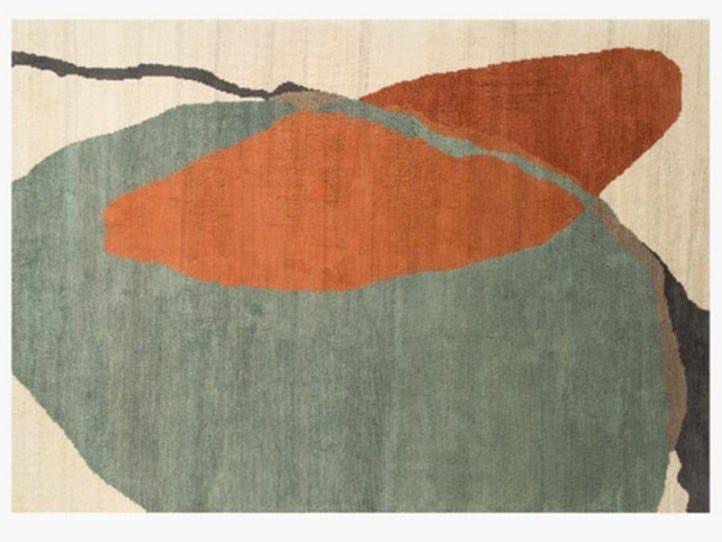 Tappeto fatto a mano rettangolare in lana MERGE DAWN by ROCHE BOBOIS