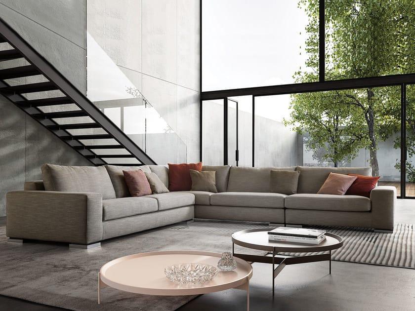 Corner fabric sofa MERIDIANO | Corner sofa by PIANCA