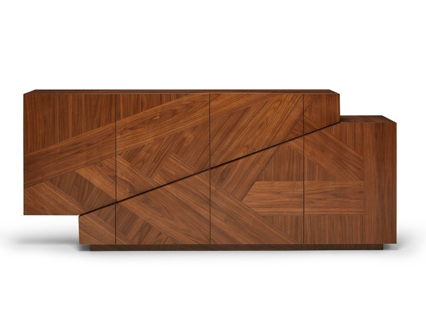 Madia in legno impiallacciato con cassetti MERIDIANO | Madia in legno impiallacciato by Ginger & Jagger