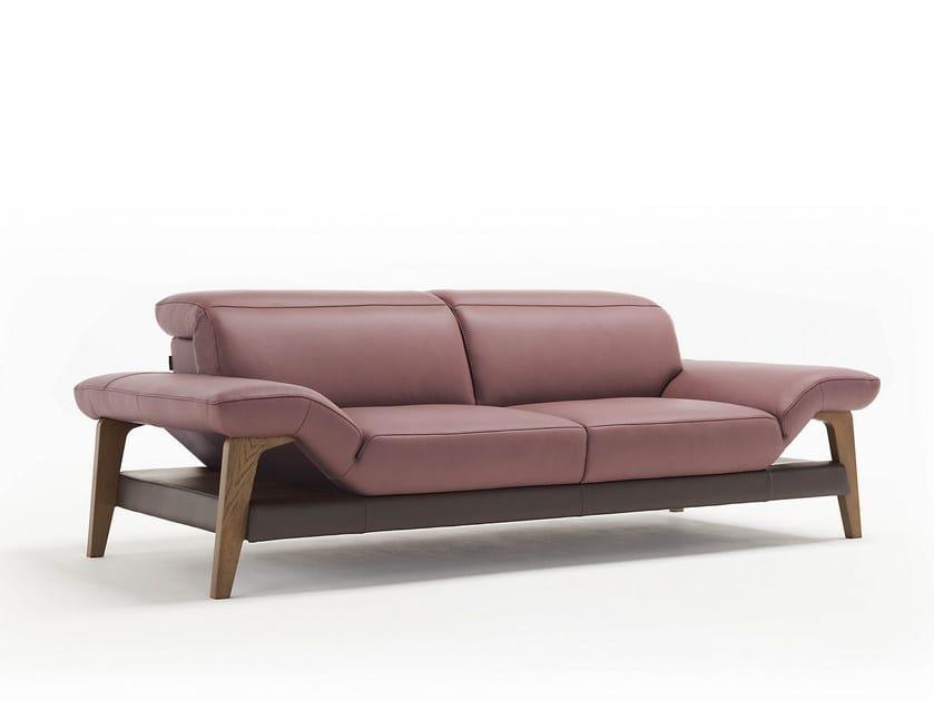 3 seater leather sofa MERIEM | 3 seater sofa by Egoitaliano