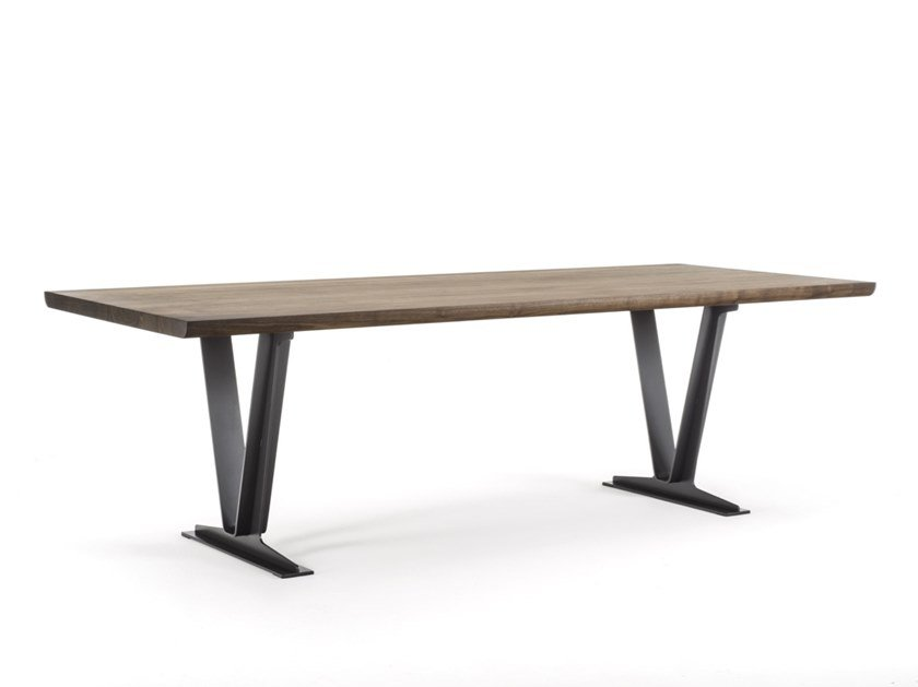 Rectangular solid wood table MESA by Riva 1920