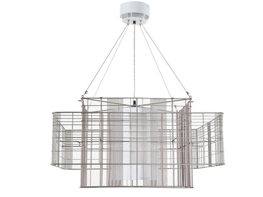 Cubic Sospensione Mesh Lampada L A In Indiretta E Diretta Forestier Metallo Luce roeBCdxW