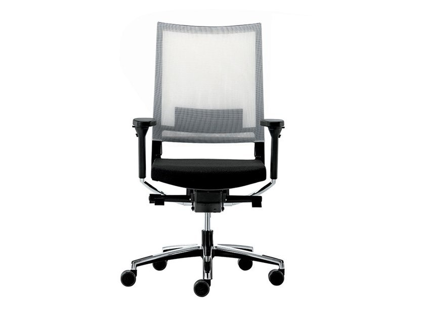 Swivel recliner mesh office chair with armrests EXPO 15 | Office chair by VAGHI