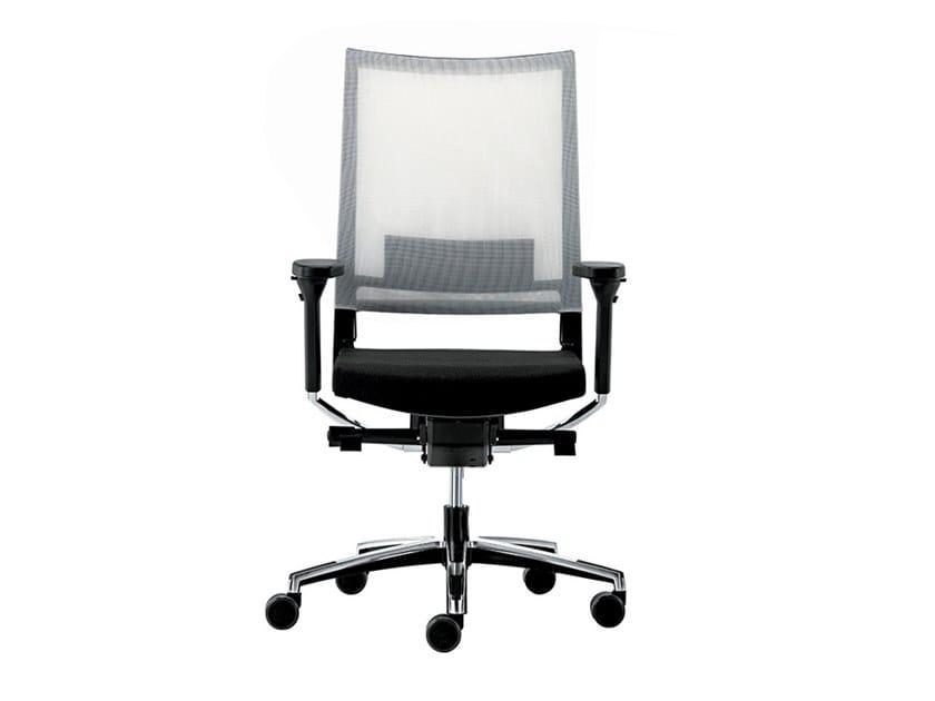 Sedia ufficio girevole reclinabile in rete con braccioli EXPO 15 | Sedia ufficio by VAGHI