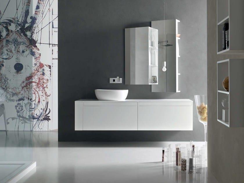 Sistema bagno componibile META - COMPOSIZIONE 1 Collezione Meta By Arcom