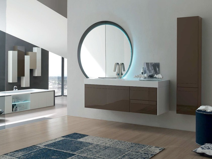 Bathroom cabinet / vanity unit META - COMPOSITION 2 by Arcom