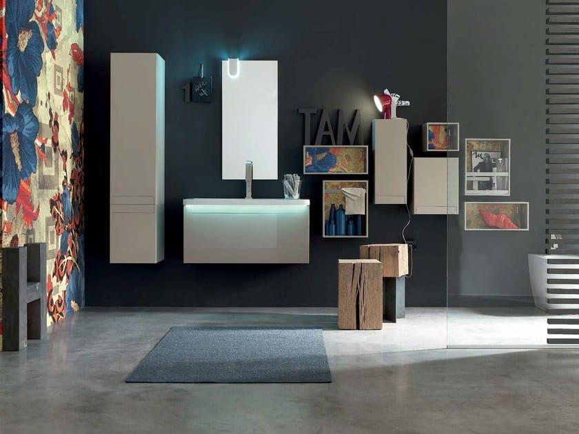 Sistema bagno componibile META - COMPOSIZIONE 5 by Arcom