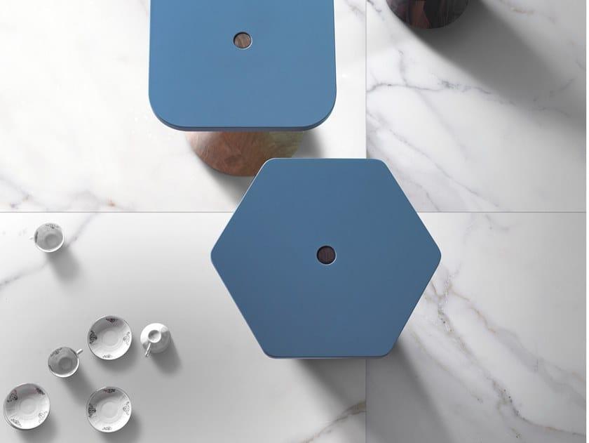Pavimento/rivestimento in gres porcellanato smaltato effetto marmo METAFISICO by ORNAMENTA