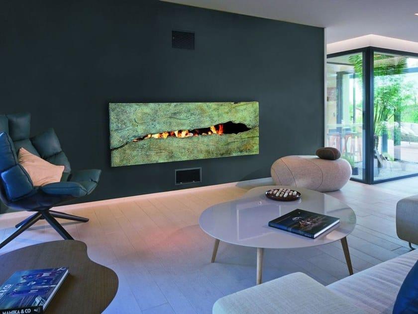Gas wall-mounted fireplace MÉTAFOCUS 8 by Focus creation
