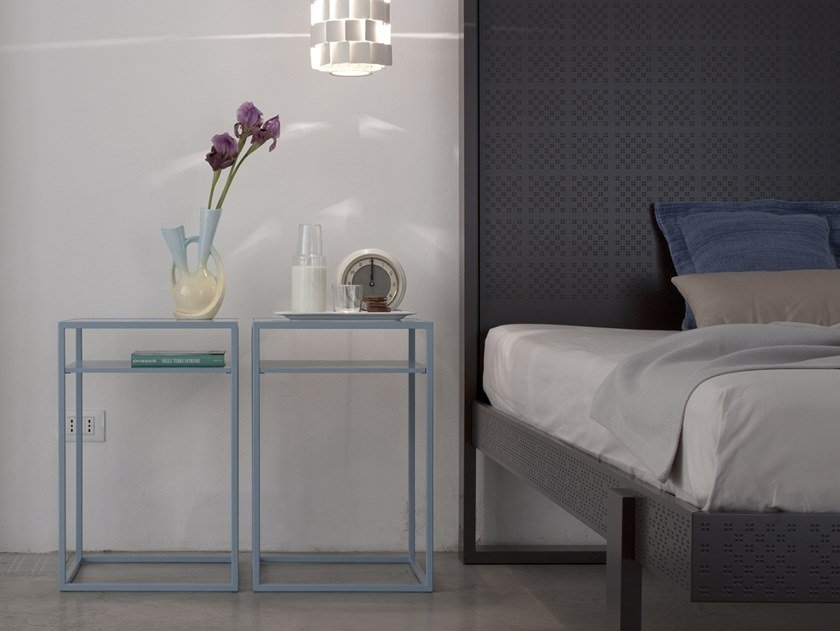 Rectangular bedside table BOX | Bedside table by Capo d'Opera