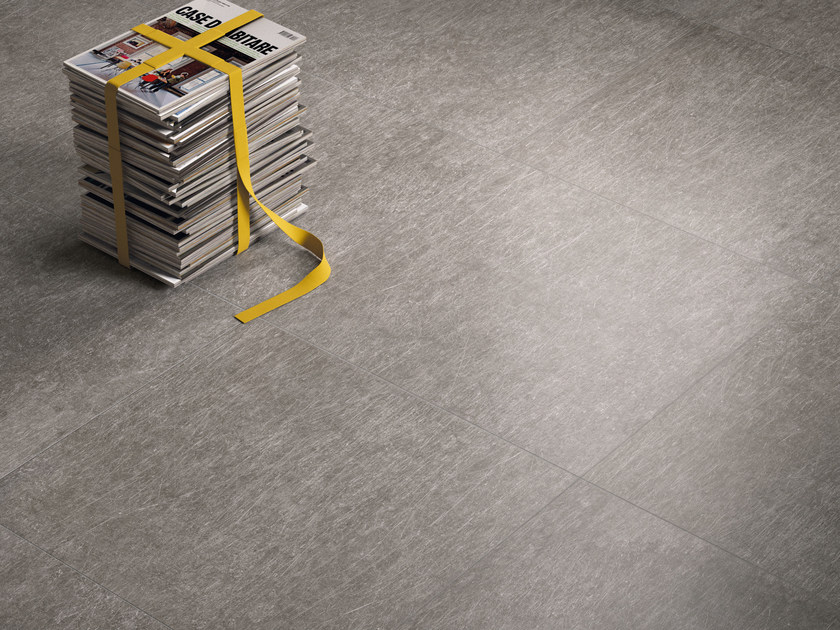 Porcelain stoneware wall/floor tiles with metal effect METAL.IT BLACK NICHEL by Ergon by Emilgroup