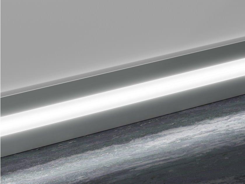 Battiscopa in alluminio con led prolight metal line 89 profilpas