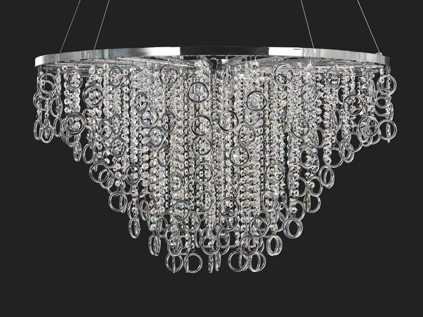 Metal pendant lamp with crystals LISA | Metal pendant lamp by Aiardini