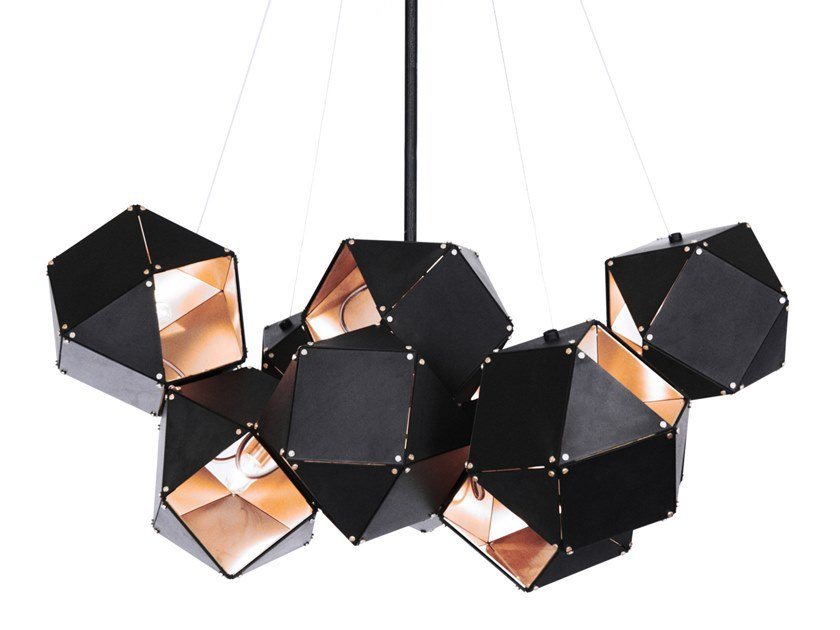 Lampada a sospensione a LED in metallo con dimmer WELLES   Lampada a sospensione in metallo by GABRIEL SCOTT