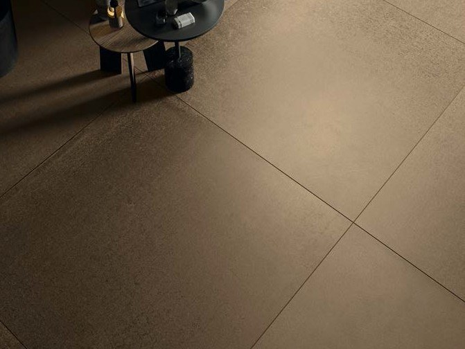 Porcelain stoneware wall/floor tiles with metal effect METALLO AU by Ceramica d'Imola