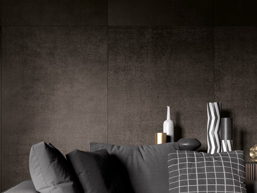 Porcelain stoneware wall/floor tiles with metal effect METALLO BZ by Ceramica d'Imola