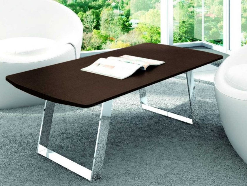 Sled base coffee table METAR | Oak coffee table by Bralco