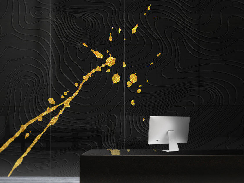 Tempered glass Decorative panel METEORA by Unica by Tecnotelai