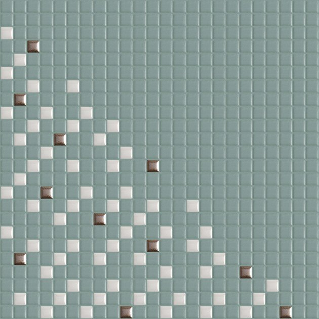 Single-fired ceramic mosaic METRICA PARALLELE 004 by Appiani