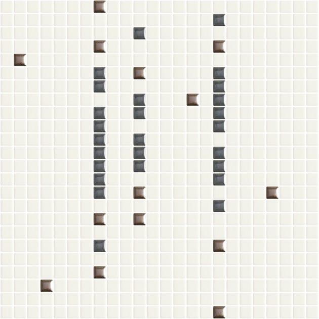 Single-fired ceramic mosaic METRICA TRATTINI 002 by Appiani