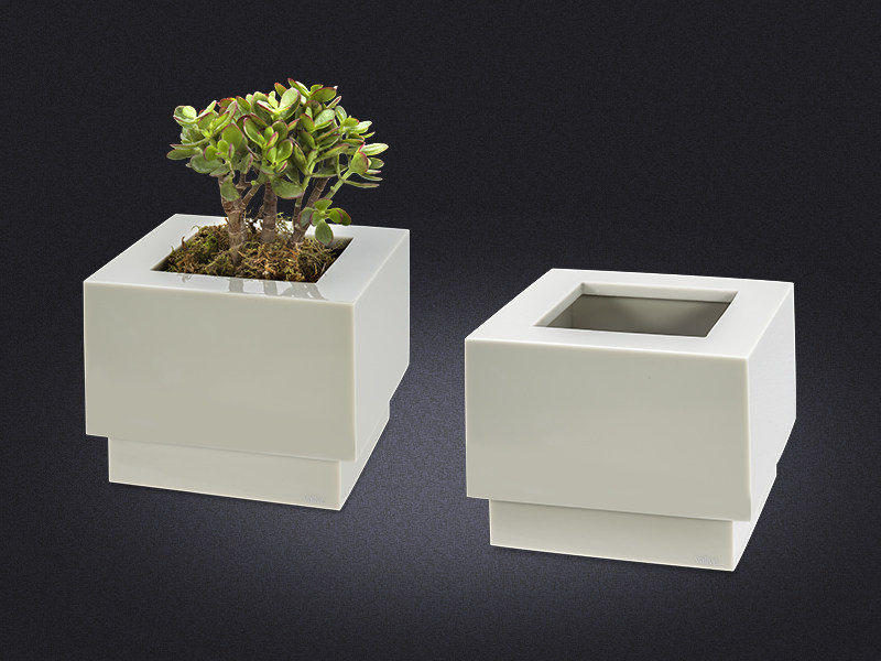 Resin bathroom waste bin / vase METRO SMALL | Bathroom waste bin by Vallvé